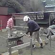 テラスの工事が始まりました!